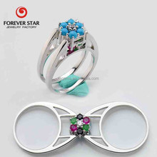 2015 Alibaba China Hot Sale Turquoise Value 925 Silver Ring