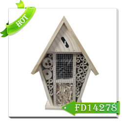 wooden bee house/ new fashion style indoor wooden insect house for bees
