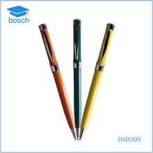 Yellow/Blue/Orange color promotion pen,cross ball pen