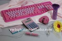 2014 Hello kitty computer equipment keyboard/ mouse