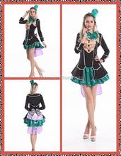 Ladies Deluxe Mad Hatter Tea Party Alice In Wonderland Fancy Dress