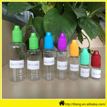 Alibaba packing 3ml 5ml 8ml 10ml 15ml 20ml 30ml 60ml pet ejuice oil bottles/color clear pet dropper eliquid plastic bottle