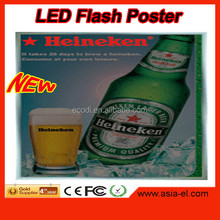 hot sale protect environment posters own designs led back light poster