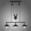 Gun black plating vintage pulley glass mirror lampshade pendant lamp for home/coffee shop