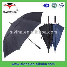 vented golf umbrella 30 inches 8k double layer auto open windproof umbrella