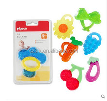 100% Food Grade Soft Fruit Shape Silicone Baby Teether /China supplier food grade natural rubber teether