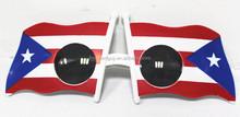 cheap plastic party Chile flag sunglasses FGGS-0290