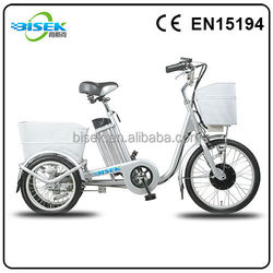 three wheels electric powered electric tricycles