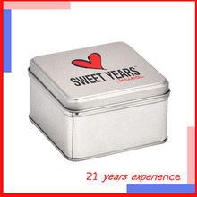 wholesale magnetic high-quality custom square small decorative tins