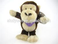Wholesale plush monkey keychain/mini monkey/stuffed monkey keychain