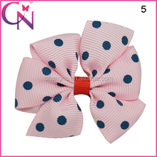 New Polka Dot Flower Hair Ornaments With Clips (CNHBW-1412081)