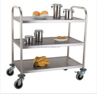 free shipping food service carts and trolley