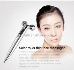 Mini solar energy mini roller ball,portable face lifting face roller massager,3d massager