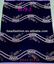 Super Quality Korea Velvet Lace with Colorful Stones