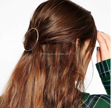2015 Fashion vintage Gold Hair Clip Charm Metal Hairpins For Women