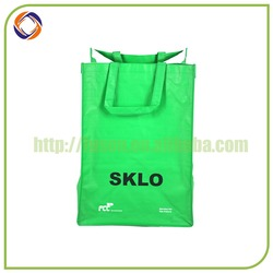 durable promotional pale blue fabric shopping bag