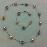 wholesale tin cup pearl necklace, custom design available