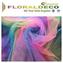 Rainbow organza fabric for Mother's day decoration