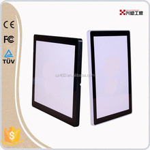 Popular A4 size plastic led light box for advertising on subway and guiding places