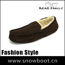 Comfortable loafer shoes men genuine cow leather loafers