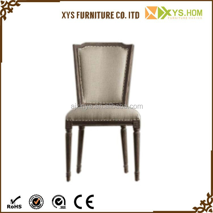 Wholesale luxury high back wooden fabric dining chair for High back fabric dining room chairs