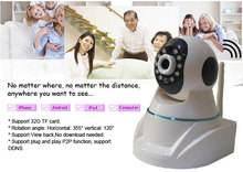 Home Security Camera System HD 720P Robot IR Night Vision CCTV Wireless Camera With WIFI,IP,Recording Functions