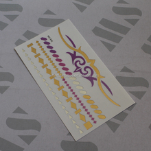 Mysterious mark MS-R-44 temporary gold foil tattoo for wholesale