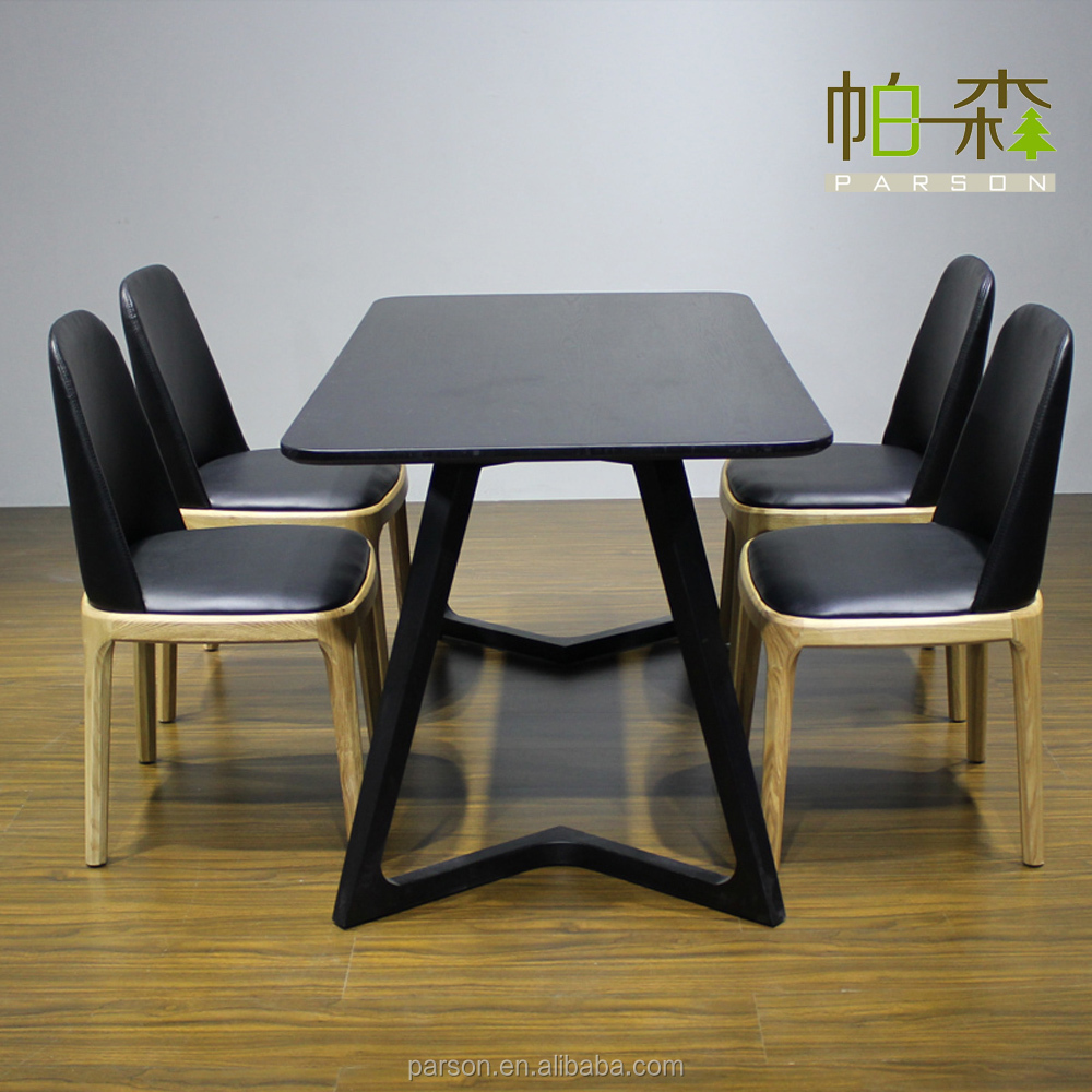 New design high painting extension hotel restaurant dining table square wood restaurant dining - Hotel dining tables ...