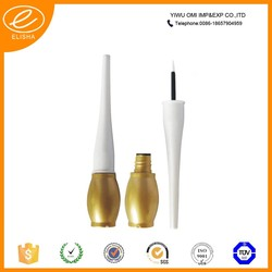 Gold waterproof gel eyeliner pencil/ small empty plastic bottles