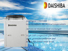 All weather and season air water heat pump heating equipment, swimming pool heater