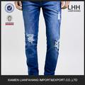 Profesional jean fabricante para el hombre jeans--Antioch azul Stretch Skinny Jeans prendas