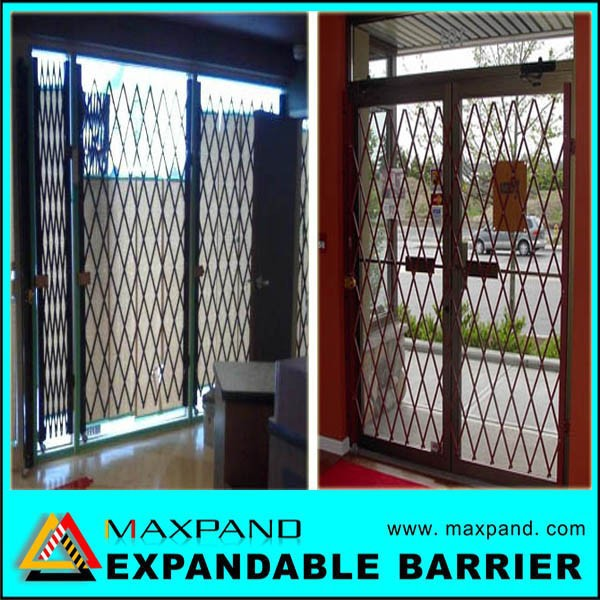 Industrial Retractable Gates : Attractive easy assembly folding metal industrial