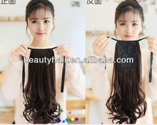 HIGH QAULITY Full Head Clip in Hair Extensions straight/curly/Wavy!! Wrap ponytail!!