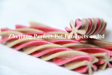 healthy food names(two-tone twisted hexagonal natural dog chews)