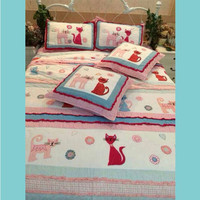 High quality cartoon design child kids comfortable crib 100% cotton bedding set wholesale
