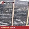 China polished black and white striped marble