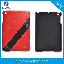 Elastic Hand Strap leather case with pc cover for ipad mini2
