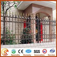 Wrought iron railing parts to decorative fence