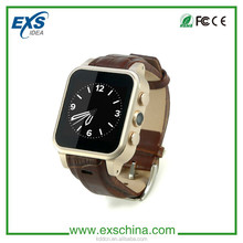 Business Men Hot sale New model Android 4.4 smart watch toush screen mobile phone with 3G wcdma WIFI GPS tracking 3-7MP camera