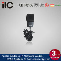 ITC T-521B Push to Talk Dynamic Hand Bus Microphone