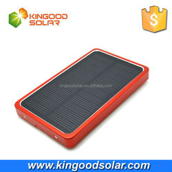 Fast charging slim Aluminium case 4000mah solar charger power bank for mobile and ipad