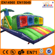 Outdoor good quality adult giant inflatable obstacle course