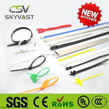 2015 factory manufacturer flexible strap hot sale free sample self lock 100pcs package tie belt with ROSH ISO CE certificate