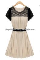 2013 Summer New Dresses Lace Chiffon Women Clothes