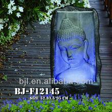 antique sculpté népal statue de bouddha fontaine de jardin en résine ornement