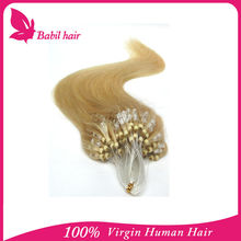 Best selling all factory price remy brazilian micro braid /micro links hair extensions