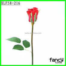 Factory direct sale importers artificial flowers single stem PU rose bud wholesale for home decor