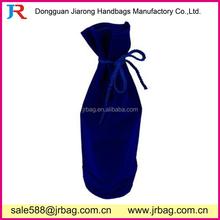 Drawstring Rope Single Wine Bottle Carrying Velvet Bags