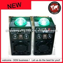 2.0 active stage speaker karaoke ktv speaker in sound system with disco ball on the top