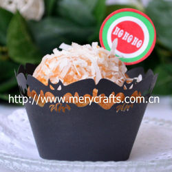 "2013 hot sale ""bat"" design for Halloween cupcake wrappers cake decoration"